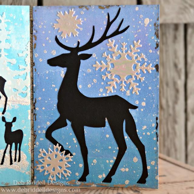 Winter Deer Triptych Panel Three