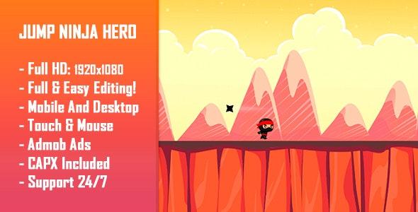 Download Jump Ninja Hero - HTML5 Game