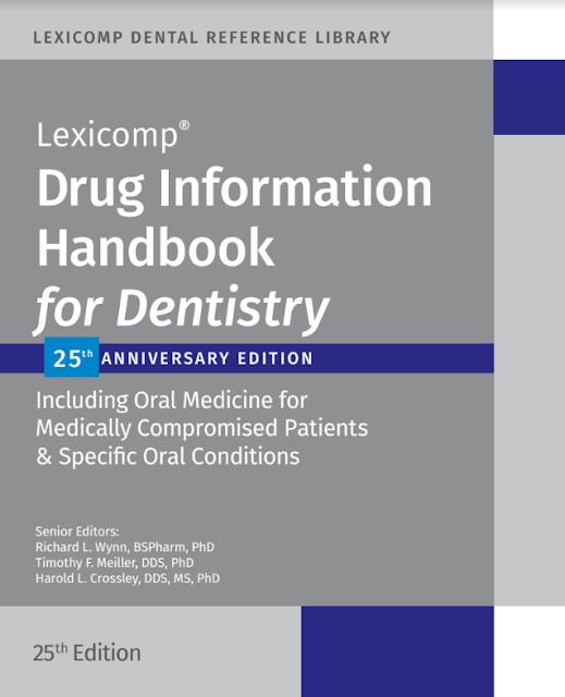 Drug Information Handbook For Dentistry 25th Edition