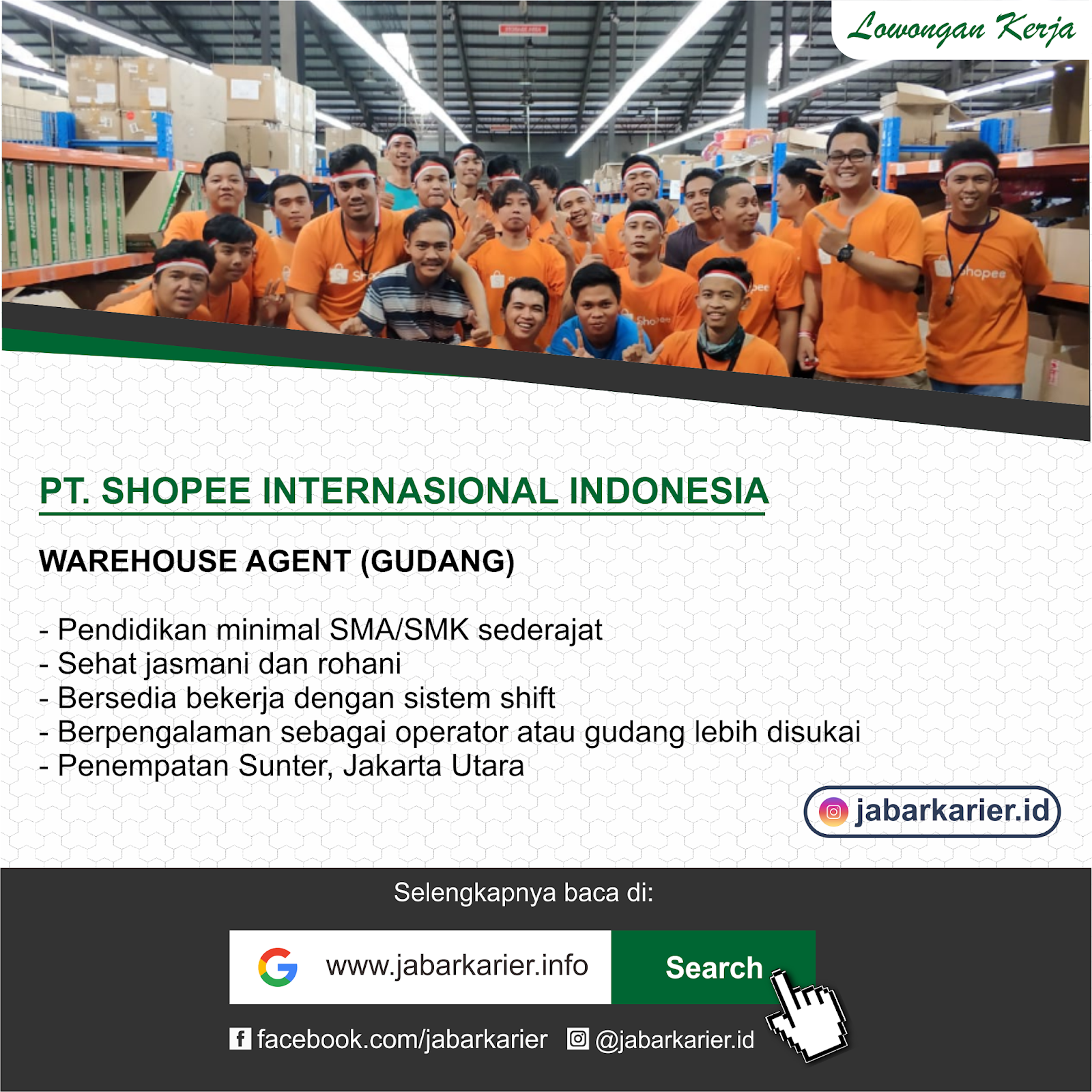 Loker Warehouse Agent Shopee Agustus 2019 Lowongan Kerja Terbaru Tahun 2020 Informasi Rekrutmen Cpns Pppk 2020