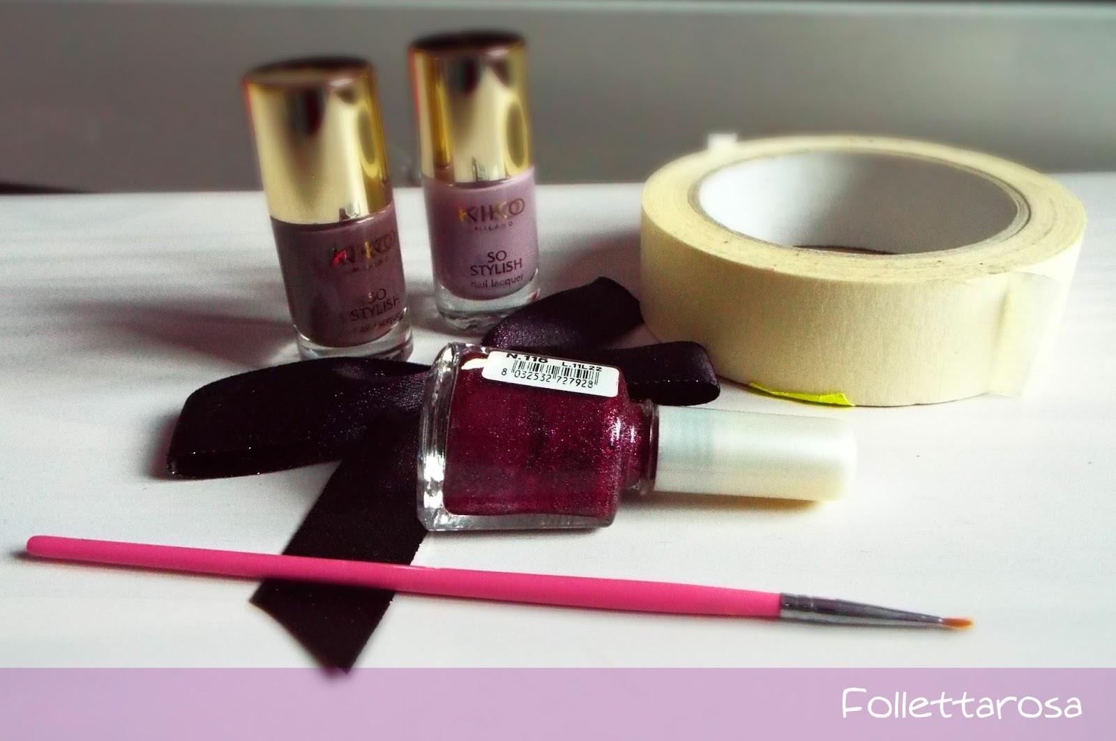 nail art geometrica tutorial