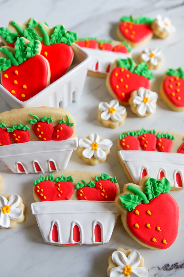 how to make Strawberry Basket Cookies