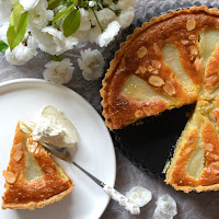A classic pear and almond tart recipe.