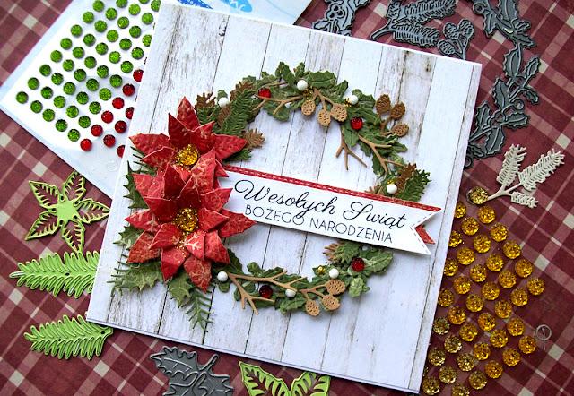 CR1387_marianne mesign_wreath_wieniec_wianek_kartka swiateczna_boze narodzenie