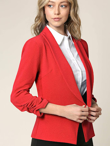 Red Blazers Jackets For Women