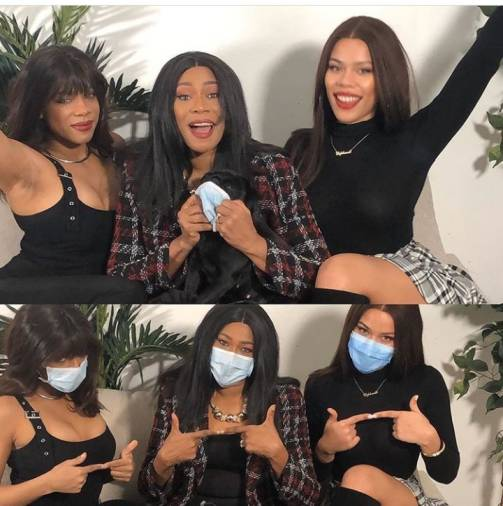 "Regina Askia and her daughters could pass for ""triplets"""