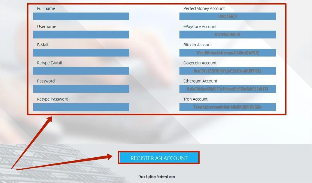 Регистрация в BinaryFinance 2