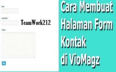 Cara Memasang Form Kontak di Template Viomagz