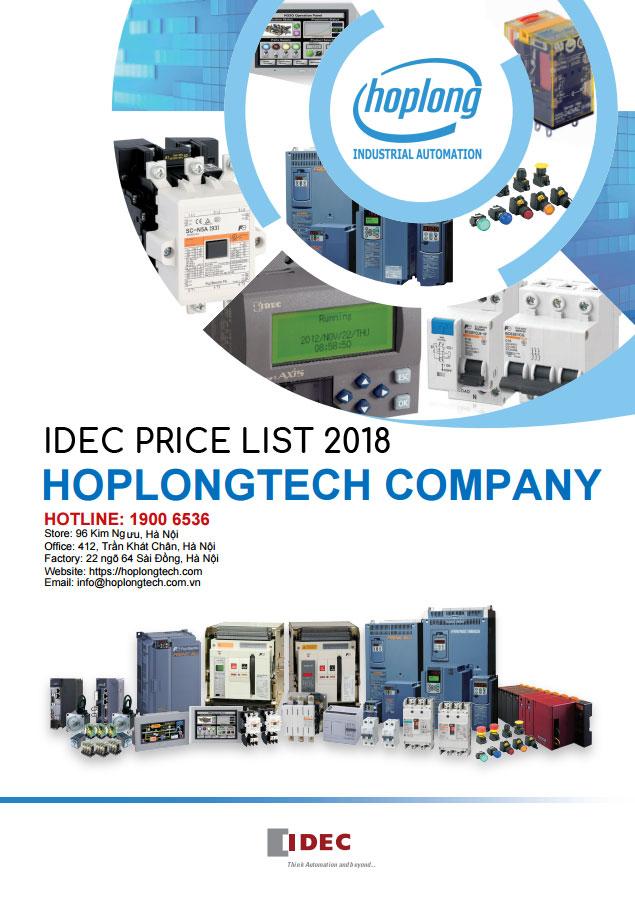 Bảng giá Idec - Idec price list 2018
