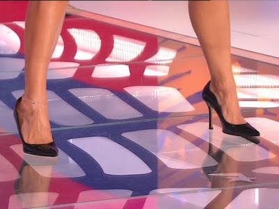 Bianca Guaccero scarpe tacco