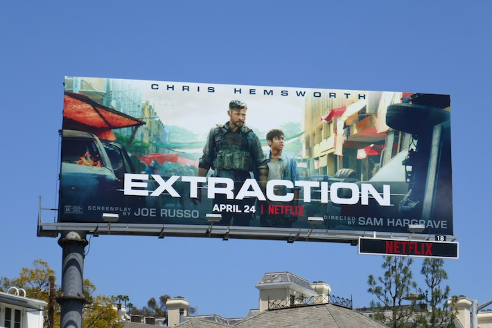 Extraction Netflix billboard