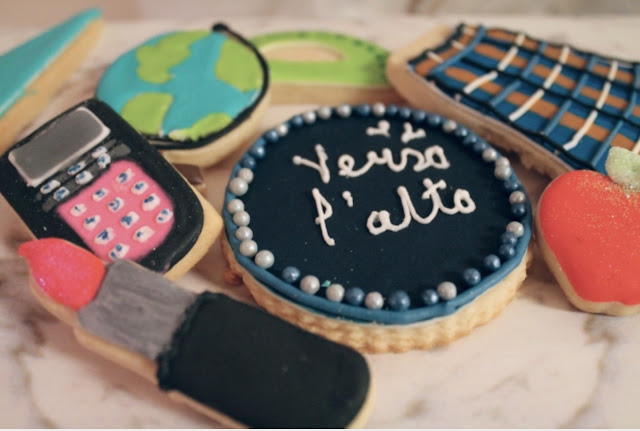 High School  girl themed cookies