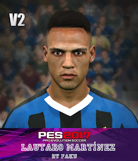 PES 2017 Faces Lautaro Martinez by Faku