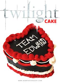 Twilight TEAM EDWARD Vintage Buttercream Birthday Halloween Cake DIY design on-trend inspo
