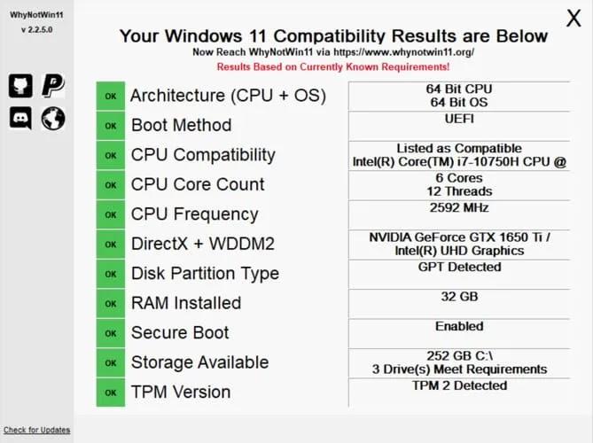 المتطلبات لنظام التشغيل Windows 11
