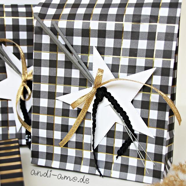 Geschenk zu Silvester hübsch verpackt Stampin Up