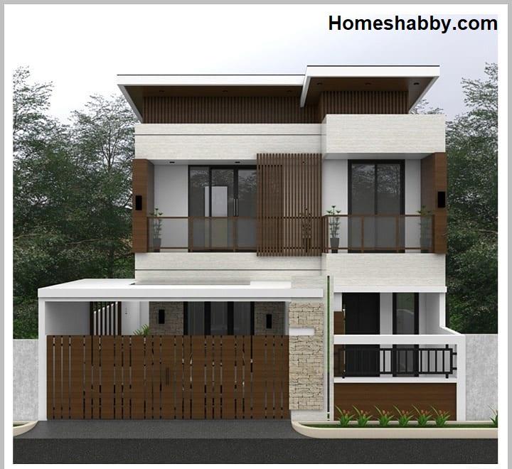 Desain Dan Denah Rumah Minimalis Ukuran 10 X 15 M 2 Lantai Tampil Lebih Modern Dengan Kombinasi Kayu Homeshabby Com Design Home Plans Home Decorating And Interior Design