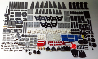 lego star wars 75183 darth vader transformation all pieces laid out