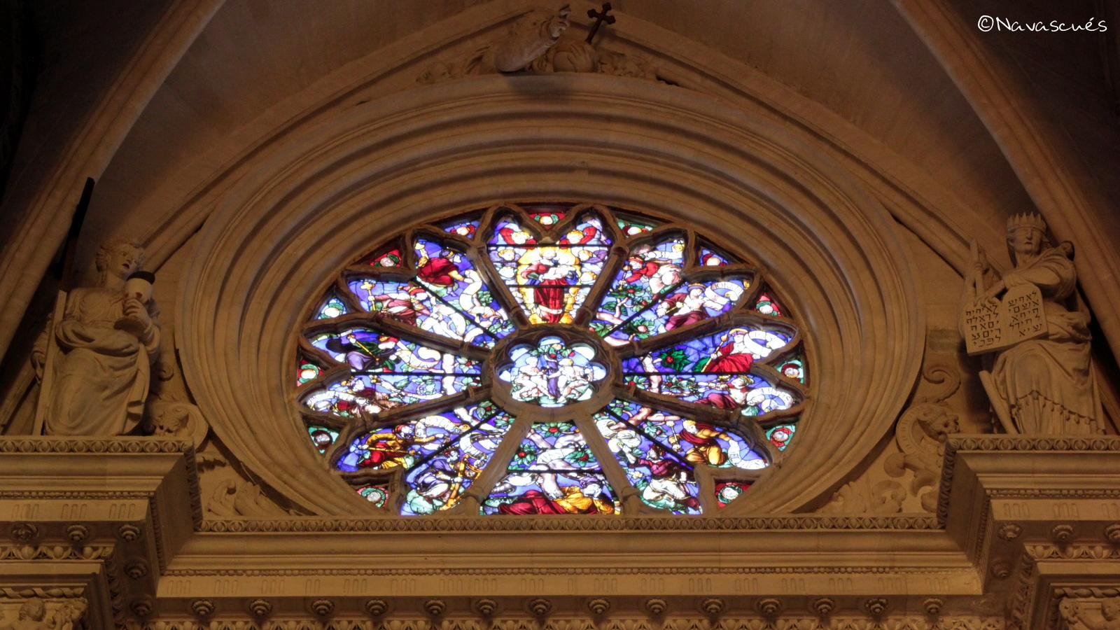 Rosetón sobre el Arco de Jamete