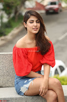 Rhea Chakraborty in Red Crop Top and Denim Shorts Spicy Pics ~  Exclusive 338.JPG