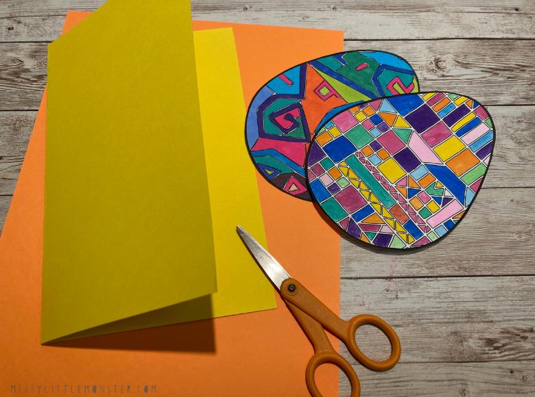 Easter egg template for easter card