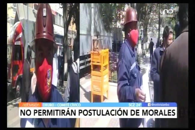 Cívicos de Oruro afirman que no permitirán postulación de Evo Morales; piden anulación de la Ley 421