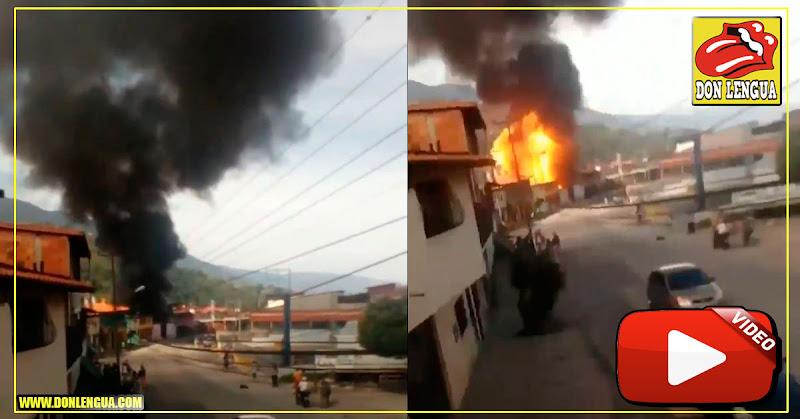 Explota almacén clandestino de gasolina en Mérida