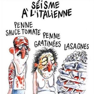 Sisma all'italiana Charlie Hebdo