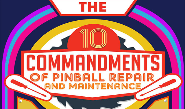 10 Commandments for pinball repair and maintenance #infographic