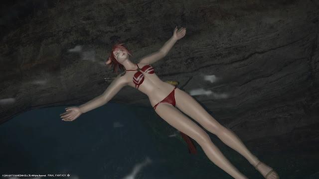 FF14 swimming