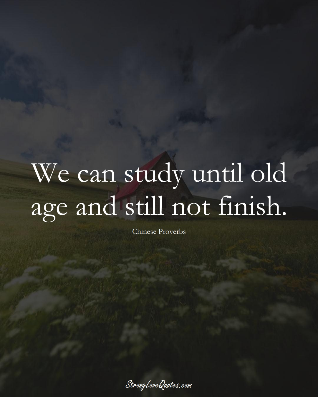 We can study until old age and still not finish. (Chinese Sayings);  #AsianSayings