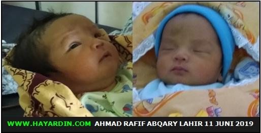 Ahmad Rafif Abqary Lahir 11 Juni 2019