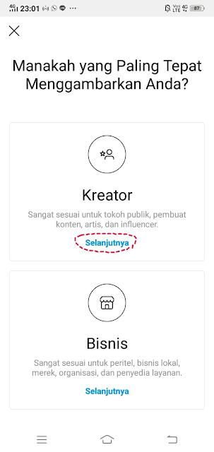 Cara Membuat Akun Kreator Instagram