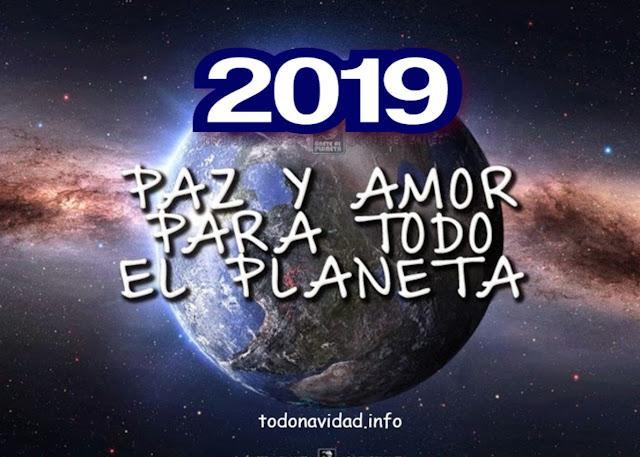 Feliz 2019  Planeta tierra