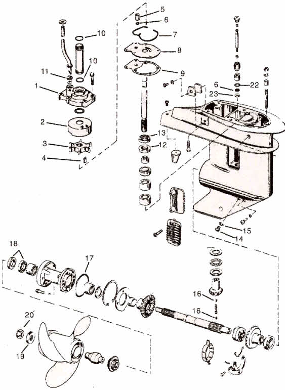 Johnson Outboard Lower Unit Diagram, Johnson, Free Engine