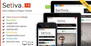 Setiva Blogger Template FREE Download