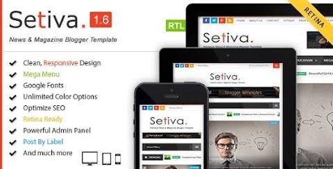 Setiva Blogger Template FREE Download | Setiva Theme for Blogger Download