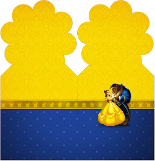 Beauty and the Beast Party Free Printable Bookmarks.