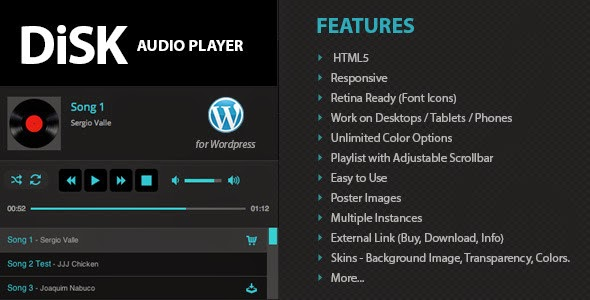 Disk Audio Player - WordPress Plugin