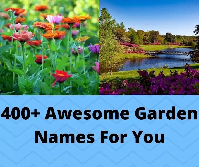 400+ Awesome Garden Names For You