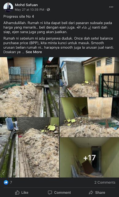 Contoh rumah busuk yang pernah diuruskan oleh tuan Mohd Safuan (Site no 4)