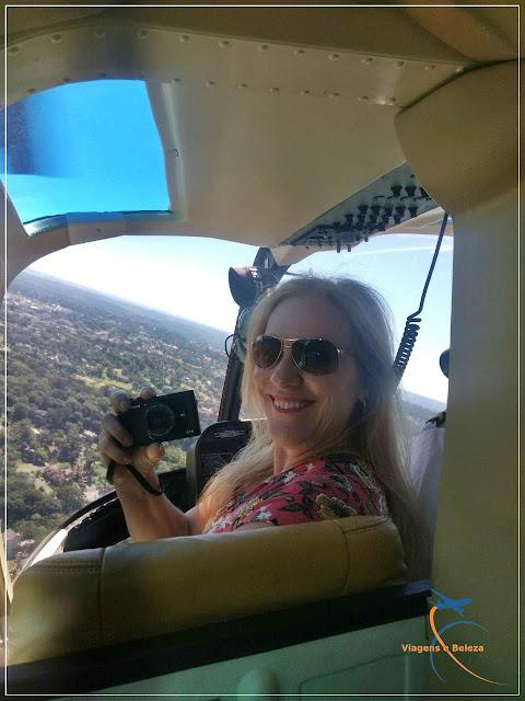 Passeando de helicóptero em Canela