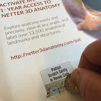 Netter's 3D Anatomy scratch-off access code