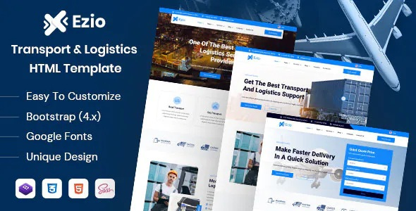 Best Transport & Logistics Company HTML Template