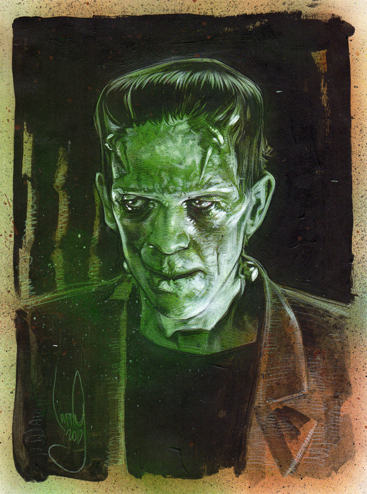 Boris Karloff as Frankenstein's Monster, Artwork© Jeff Lafferty