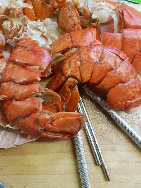 cooking lobster and getting meat out