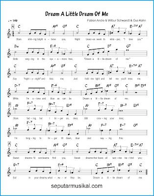 Dream a Little Dream of  Me chords jazz standar