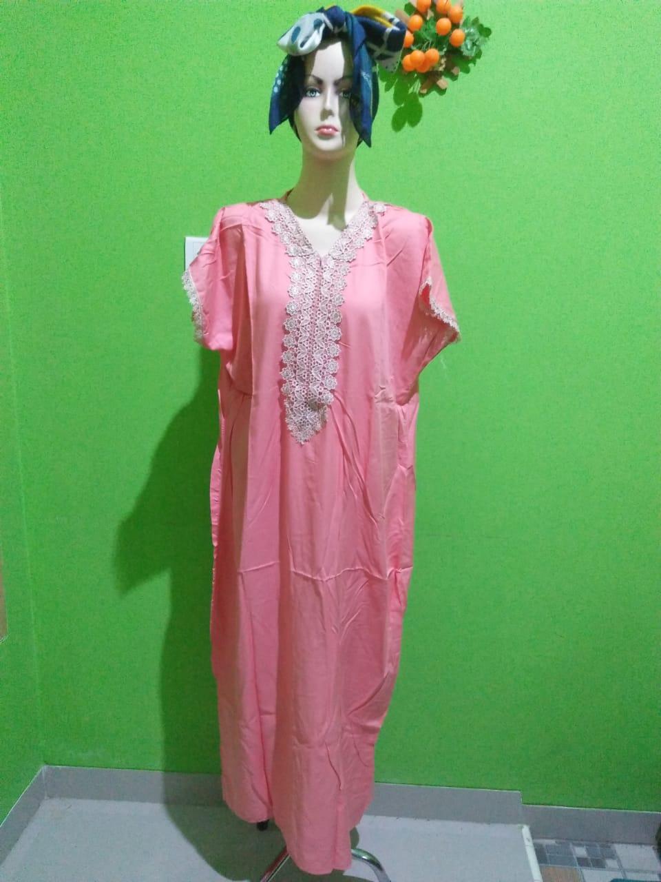 Daster Arabian Lengan Pendek Warna Pink