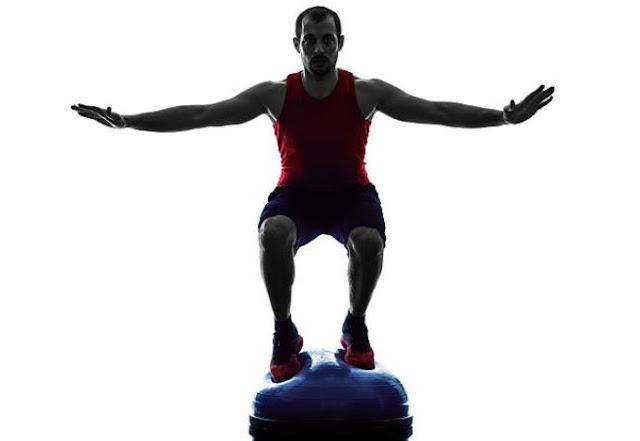garage gym exercise equipment bosu ball both sides up workout