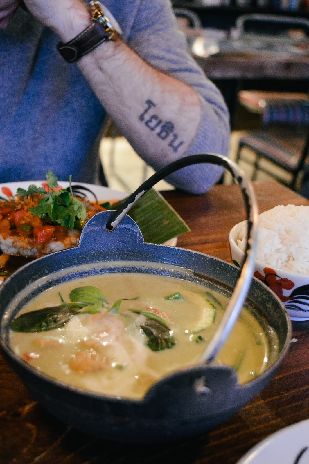 Vegan Thai green curry in Thaikhun Southampton